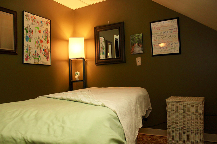 Massage in a comfortable room with Emily Witbeck